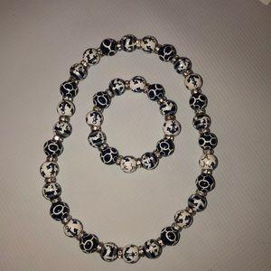 Angela Moore necklace and bracelet set